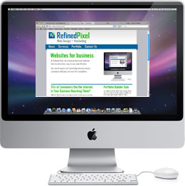 iMac with screenshot